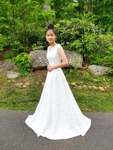 Classic brocade wedding gown