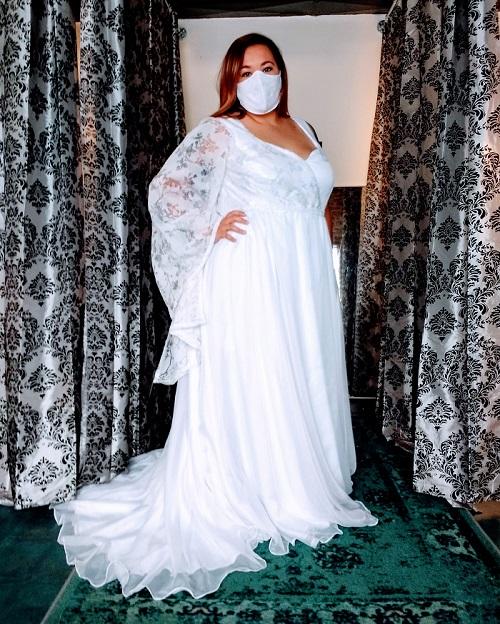 Jessica's Asymmetrical Wedding Dress